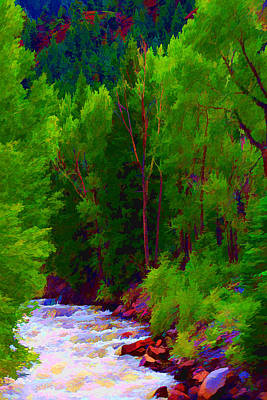 Mountain Stream Art Print by Brian Davis