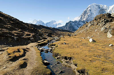 Nepal Scenes Photograph - Mountain Stream In The Himalayas by Shanna Baker