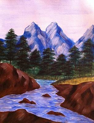 Pike River Painting - Mountain Stream by Kimberly Hebert