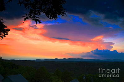 Photograph - Mountain Summer Sunset by Carol  Bradley