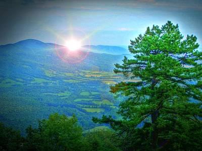 Mountain Sunrise Art Print by Dan Stone