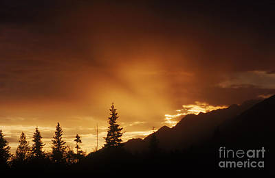 Photograph - Mountain Sunset by Bruce M Herman and Photo Researchers