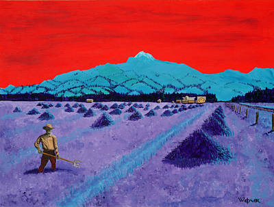 Painting - Mountain Valley Farmer by Randall Weidner