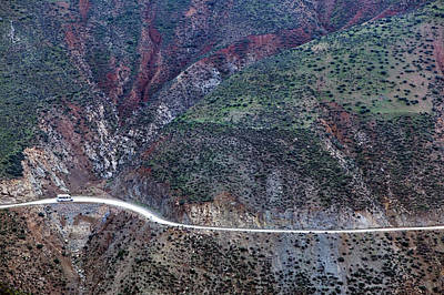 Mountain View From Tizi-n-test Pass (e 2092 Meters), Tizi-n-test Pass Road, Morocco Art Print by Walter Bibikow