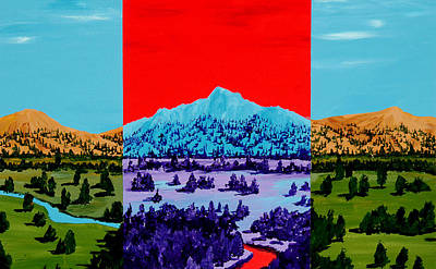 Painting - Mountain View by Randall Weidner