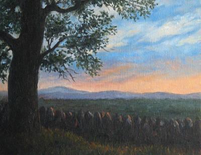 Stonewall Painting - Mountain View Sunset by Oksana Zotkina