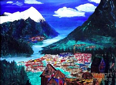 Painting - Mountain Village by Jayne Kerr