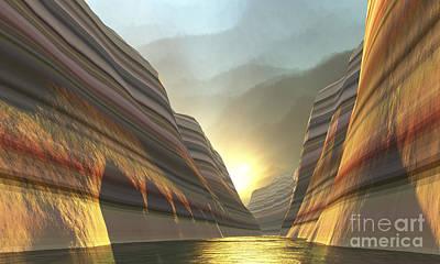 Beautiful Vistas Digital Art - Mountain Vista by Corey Ford