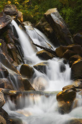 Photograph - Mountain Waterfall by Douglas Pulsipher