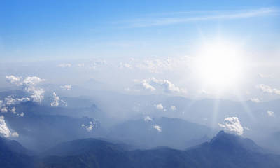 Stratosphere Photograph - Mountain With Blue Sky And Clouds by Setsiri Silapasuwanchai