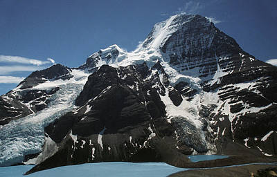 Mountain With Glacier And Snow Art Print by Kelly Redinger