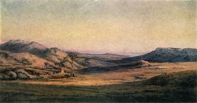 'mountainous Countryside' Painting By Edmond Barbazzona Art Print by Photos.com