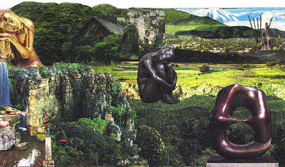 'mountains' Collage Art Print