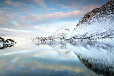 Mountains In Fjord Art Print