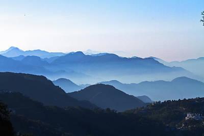 Mountains Layers Art Print by Tarun Chopra