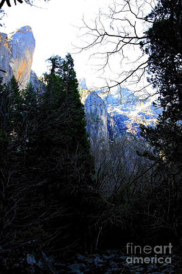 Mountains Of Yosemite . 7d6214 Art Print by Wingsdomain Art and Photography