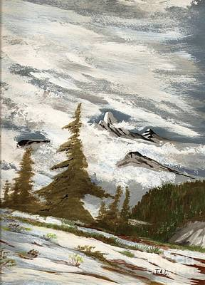 Painting - Mountaintop Storm by Jessi and James Gault