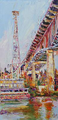 Union Bridge Painting - Mountlake Cut by Beth Betker