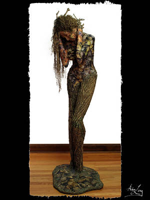 Female Mixed Media - Mourning Moss Greeting Card Image by Adam Long