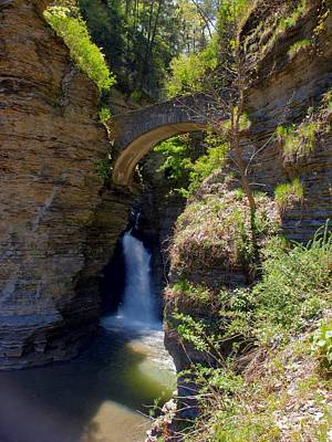 Photograph - Mouth Of The Glen Watkins Glen State Prk by Joshua House