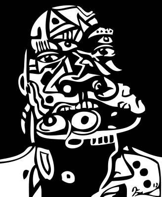 Popstract Digital Art - Mouthful by Kamoni Khem