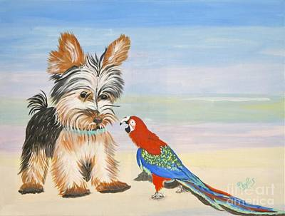 Thomas Kinkade Royalty Free Images - Mouthy Parrot Royalty-Free Image by Phyllis Kaltenbach