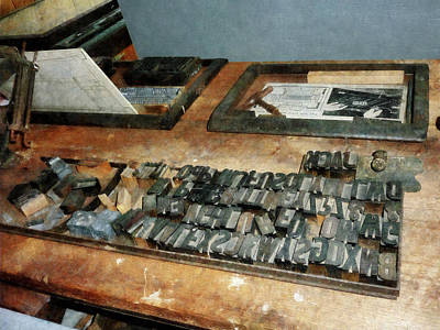 Photograph - Movable Type by Susan Savad