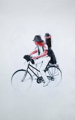 Bycicle Drawing - Move 3 by Jaume Montserrat