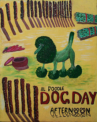 Broccoli Painting - Movie Poster In The Edible World IIi by Sushobha Jenner