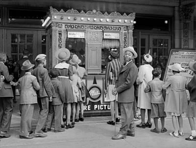 Movie Theater Showing The Philadelphia Art Print by Everett