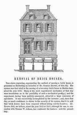 Moving A Brick House, 1823 Art Print