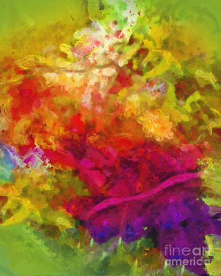 Rainbow Fantasy Art Painting - Moving Color by Lutz Baar