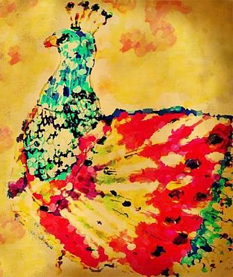 Mprints - Pretty  Peacock Art Print