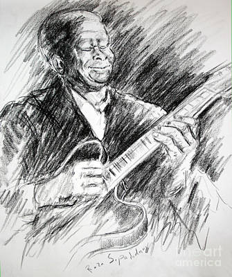 Drawing - Mr Bb King by Reza Sepahdari