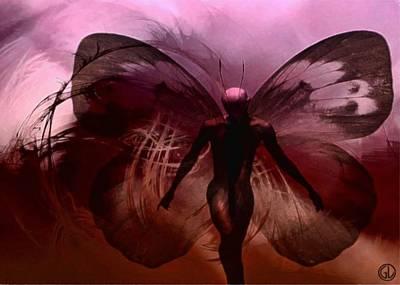 Fractal Flame Digital Art - Mr Butterfly by Gun Legler