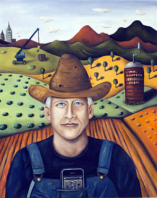Spinach Painting - Mr Cooper's Spinach Farm by Leah Saulnier The Painting Maniac