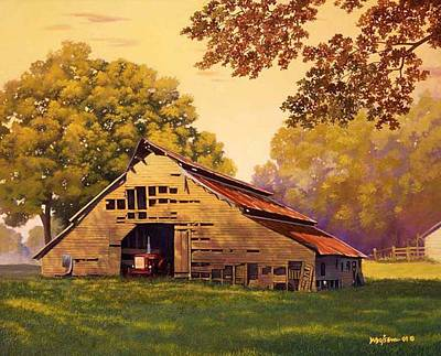 Painting - Mr. D's Barn by Howard Dubois