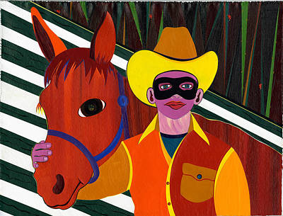 Painting - Mr. Ed And His Lone Ranger by Ruby Persson