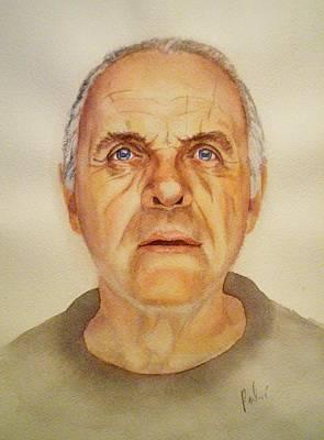 Anthony Hopkins Painting - Mr. H by Eleonora Perlic