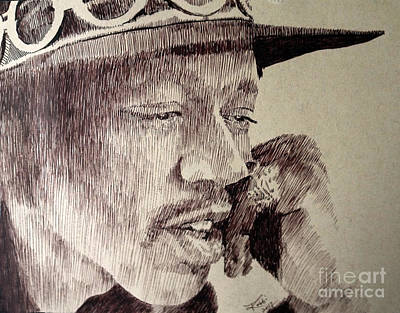 Robbi Musser Drawing - Mr. Hendrix by Robbi  Musser