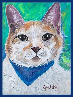 Cat Painting - Mr. Peabody by Paintings by Gretzky