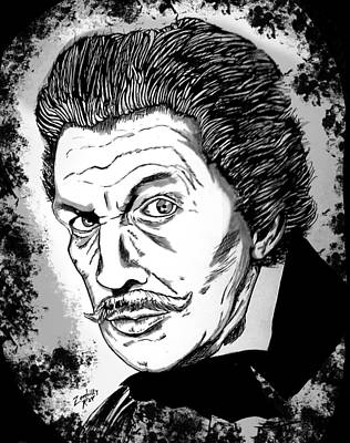 Vincent Price Painting - Mr. Price by Zombilly Ray