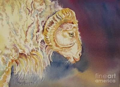 Mr. Ram Art Print by Mary Haley-Rocks