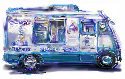 Mixed Media - Mr. Softee by Russell Pierce