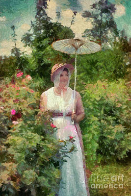 Maryland Photograph - Mrs. Calvert In Her Rose Garden by Susan Isakson