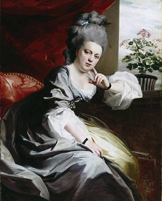 Mrs Clark Gayton Art Print by John Singleton Copley