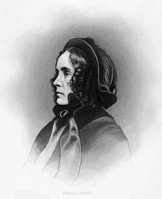 Mrs. Franklin Pierce, Engraved By Jc Art Print by Everett