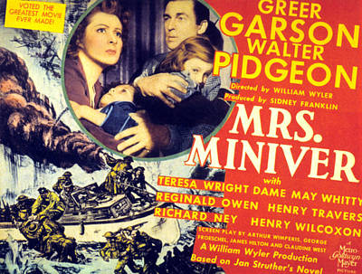 Films By William Wyler Photograph - Mrs. Miniver, Greer Garson, Clare by Everett