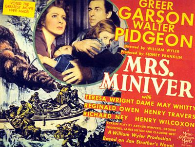 Mrs. Miniver, Greer Garson, Clare Print by Everett