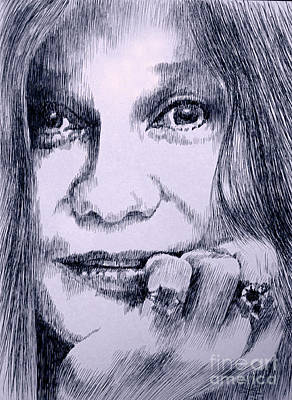 Janis Joplin Drawing - Ms. Joplin by Robbi  Musser